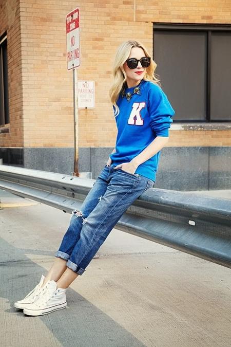 Как сочетать джинсы и туфли