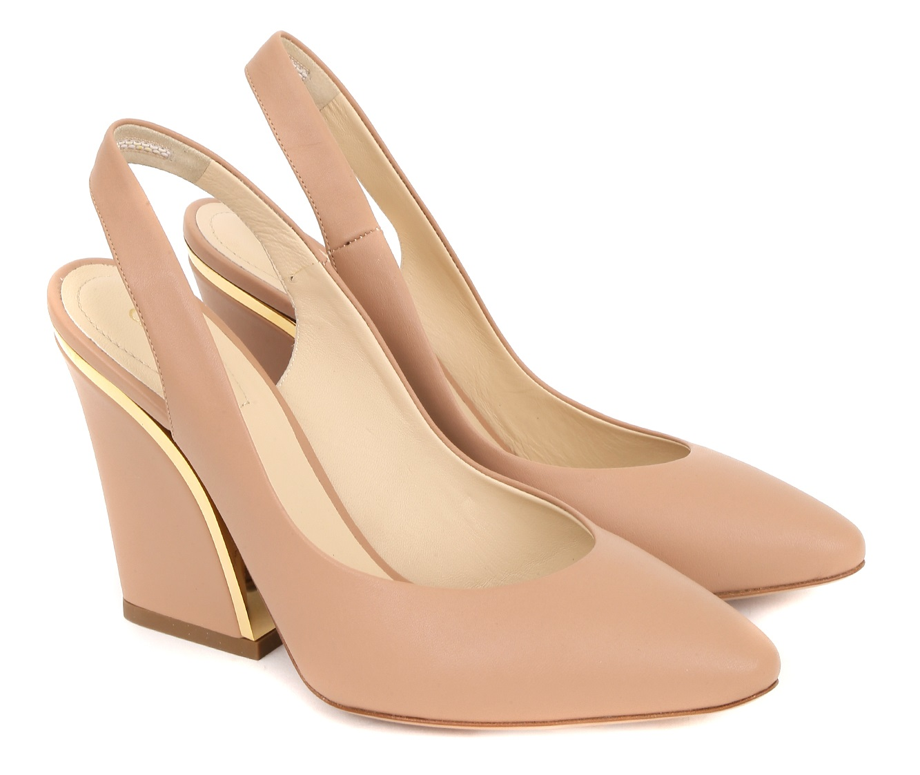 Бежевые туфли Chloe
