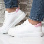 Кроссовки белые на дутой подошве