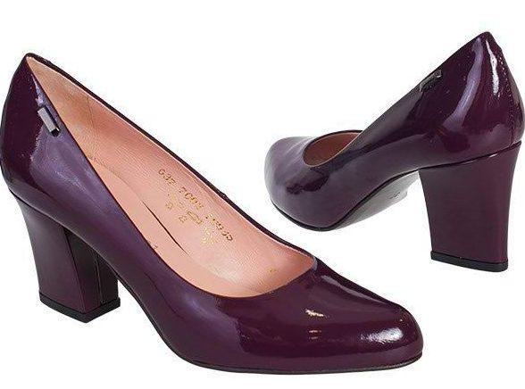 Лаковые туфли на клиновидном каблуке