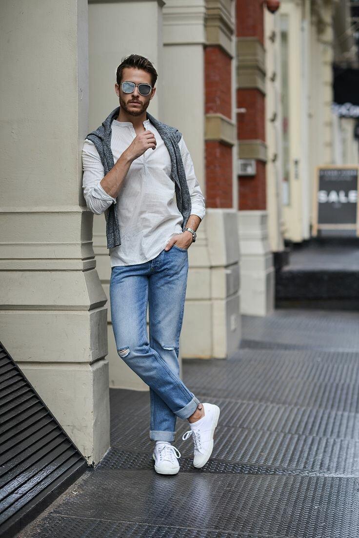Образ с белой рубашкой