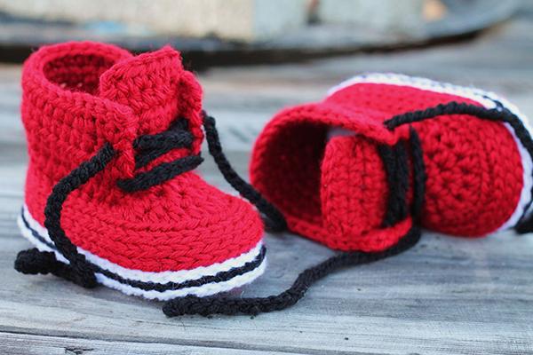 Пинетки со шнуровкой