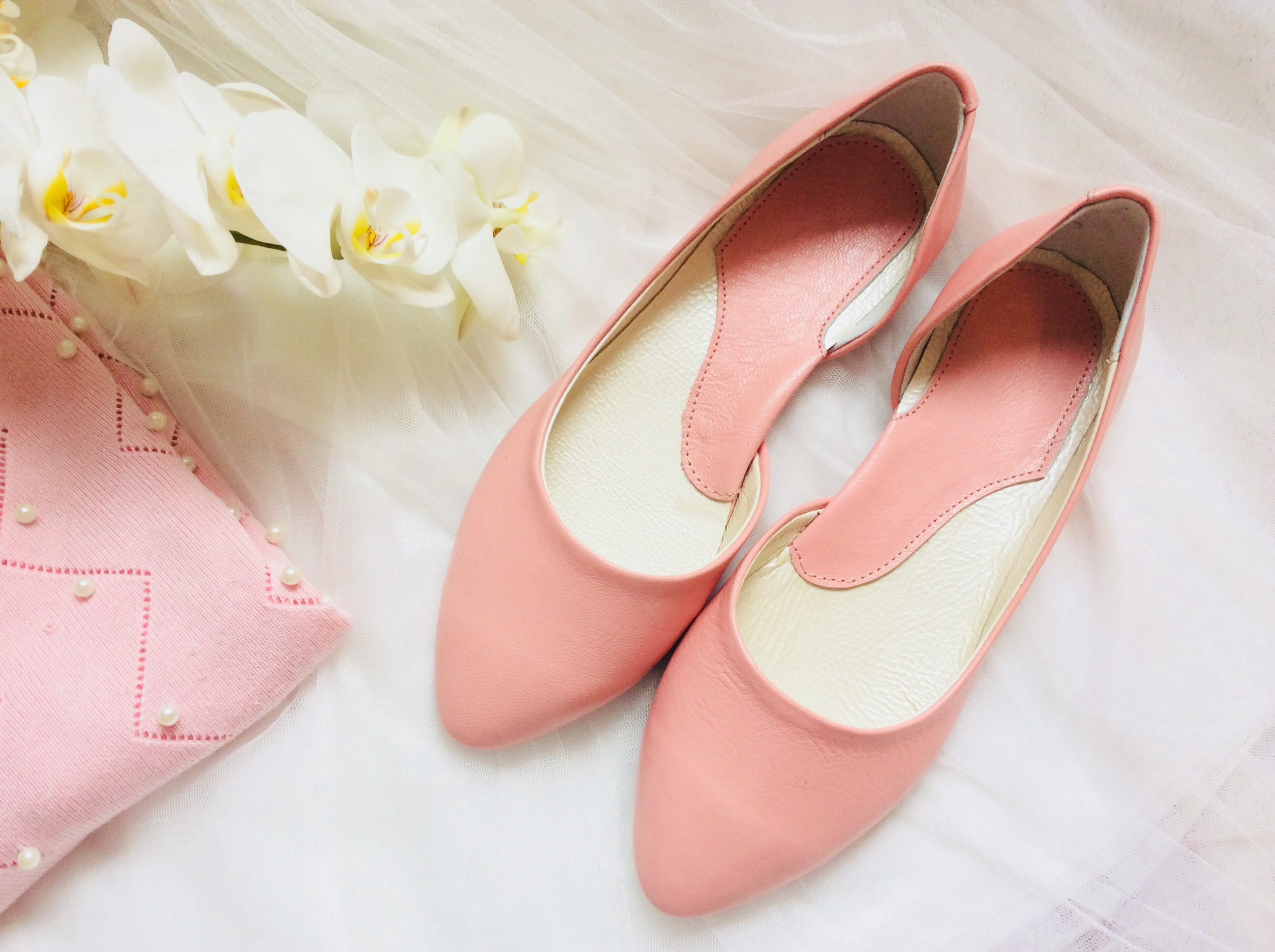 Розовые элегантные