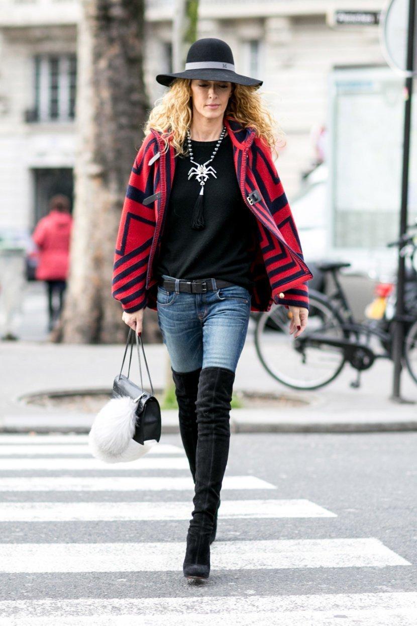 Сапоги с джинсами