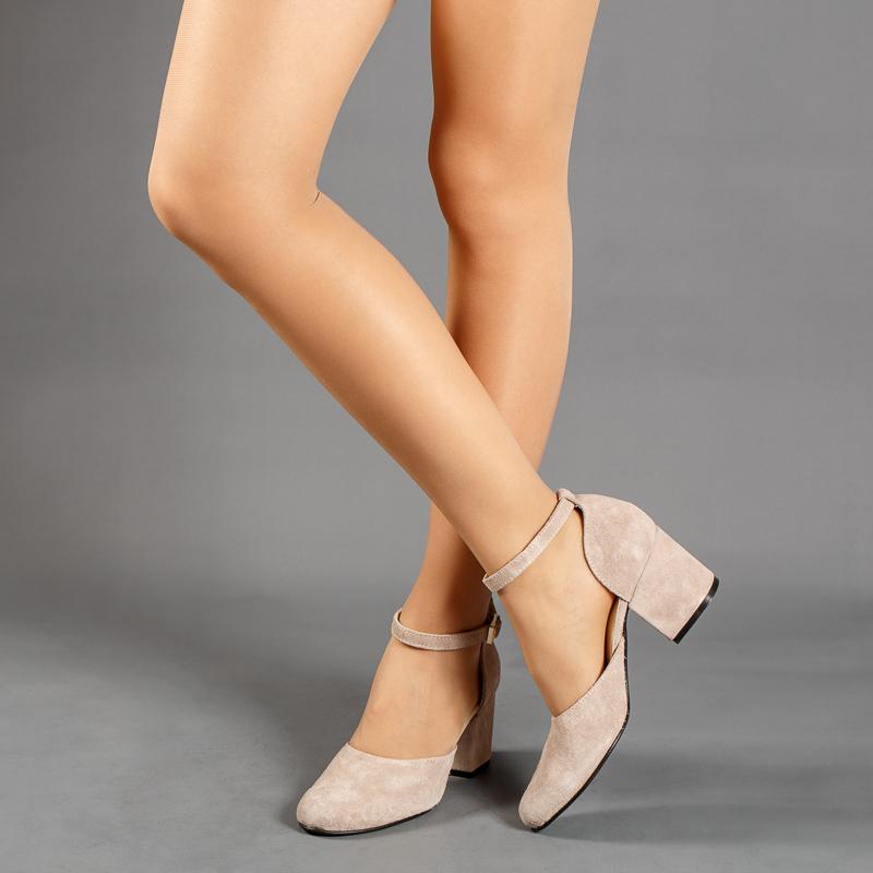 Туфли-деленки бежевые