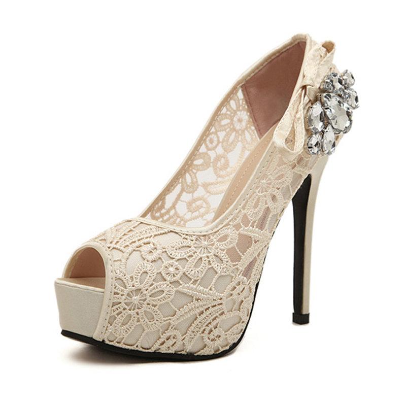 Женские ажурные туфли