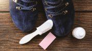 Как подручными средствами полностью убрать соль с замшевой обуви