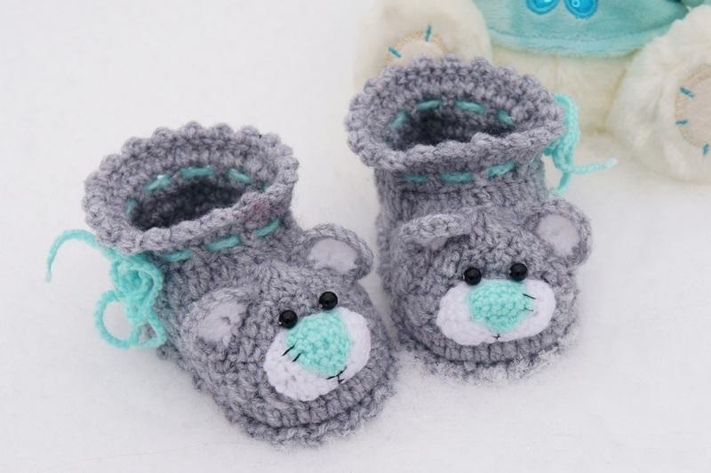 Пинетки для начинающих с пошаговым описанием крючком: красивые крестильные, кедики, зефирки для новорожденных без шва на подошве