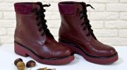 С чем носить ботинки бордового цвета, удачные комбинации