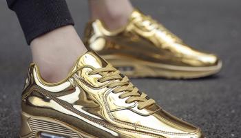 Создание стильного образа с золотыми кроссовками, основные ошибки