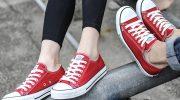 Разновидности красных кедов, советы по созданию стильного образа