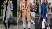 Модные образы с кроссовками и пальто, требования к одежде и обуви